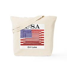USA 3 Flags Tote Bag