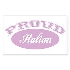 Proud Italian (pink) Rectangle Decal