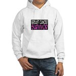 'Breast Cancer Survivor' Hooded Sweatshirt