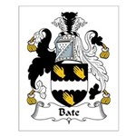 Bate Family Crest Small Poster