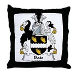 Bate Family Crest Throw Pillow