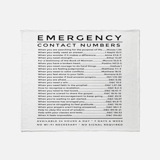 bible emergency number Throw Blanket