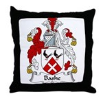 Bashe Family Crest Throw Pillow