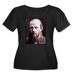 Dostoevsky Women's Plus Size Scoop Neck Dark T-Shi