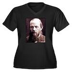 Dostoevsky Women's Plus Size V-Neck Dark T-Shirt