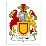 Bartram Family Crest  Small Poster