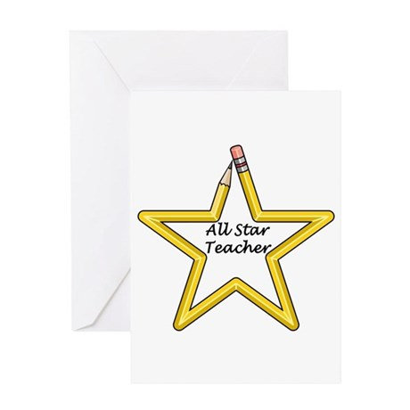 Gifts for Teachers Star Greeting Card