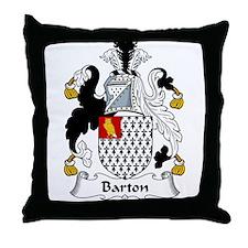 Barton Family Crest  Throw Pillow