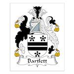 Bartlett Family Crest  Small Poster