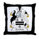 Bartlett Family Crest  Throw Pillow