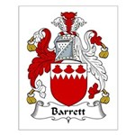 Barrett Family Crest Small Poster