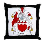 Barrett Family Crest Throw Pillow