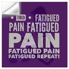 Pain Fatigue Tired  Wall Decal
