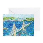 Golden Gate San Francisc Greeting Cards (Pk of 10)