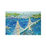 Golden Gate San Franci Rectangle Magnet (100 pack)