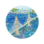"Golden Gate San Francisco 3.5"" Button (100 pack)"