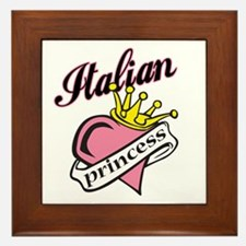 Italian Princess Framed Tile