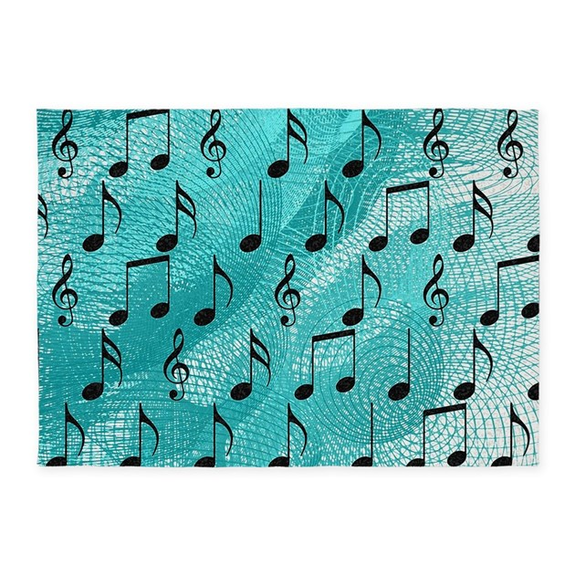 Music Notes 5'x7'Area Rug By Admin_CP73261161