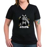 Barnhouse Family Crest Women's V-Neck Dark T-Shirt