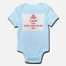 Keep Calm and Soup And Salad ON Body Suit