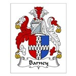 Barney Family Crest Small Poster