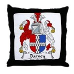 Barney Family Crest Throw Pillow
