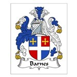 Barnes Family Crest Small Poster