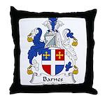 Barnes Family Crest Throw Pillow