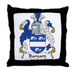 Barnard Family Crest Throw Pillow