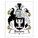 Barlow Family Crest Small Poster