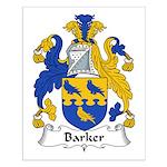 Barker Family Crest Small Poster