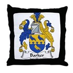 Barker Family Crest Throw Pillow