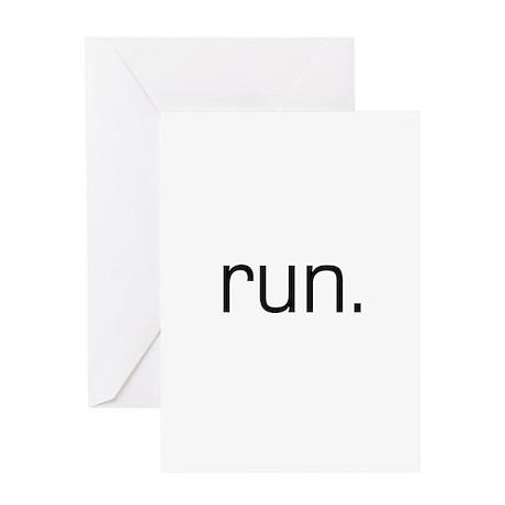 run0 Greeting Cards