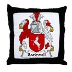 Bardwell Family Crest Throw Pillow