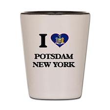 I love Potsdam New York Shot Glass