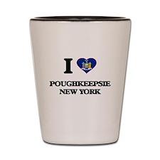 I love Poughkeepsie New York Shot Glass