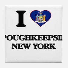 I love Poughkeepsie New York Tile Coaster