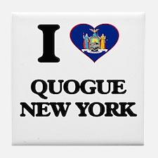 I love Quogue New York Tile Coaster