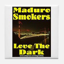 Maduro Smokers Cigar Tile Coaster