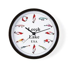 Leech Lake Clocks Wall Clock