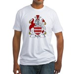 Barbe Family Crest  Fitted T-Shirt