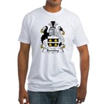 Banning Family Crest  Fitted T-Shirt