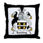 Banning Family Crest  Throw Pillow