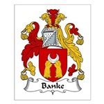Banke Family Crest Small Poster