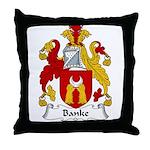 Banke Family Crest Throw Pillow