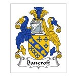 Bancroft Family Crest Small Poster