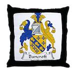 Bancroft Family Crest Throw Pillow
