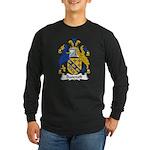 Bancroft Family Crest Long Sleeve Dark T-Shirt
