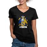 Bancroft Family Crest Women's V-Neck Dark T-Shirt
