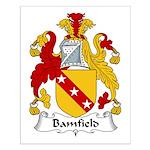 Bamfield Family Crest  Small Poster